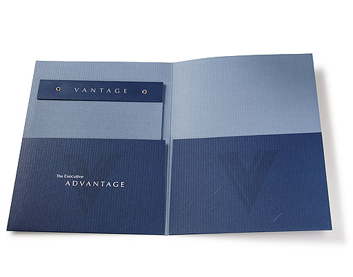 Vantage Financial Partners Limited capabilities brochure and folder interior