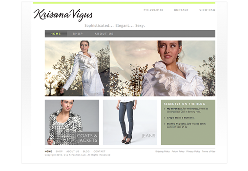 Krisana website Home